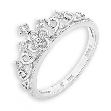 0.19cttw Diamond Crown Of Queen Princess Tiara Milgrain Wedding Bridal Promise Ring S07369R
