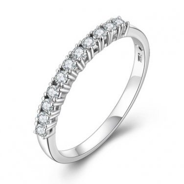 0.19cttw Diamond Four Prong Journey Women Wedding Bridal Engagement Ring Band P10551R