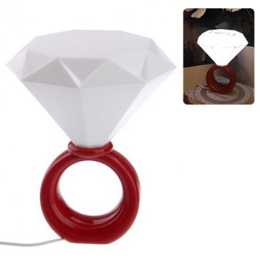 Diamond Ring USB Desk Bedroom Decor LED Lamp Night Light I Love You Romantic Lover Gift