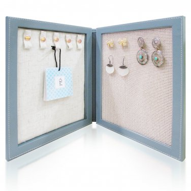 Chel by Cheline - Travel Magnetic Jewelry Book Organizer Case Box Gift for Women (Slate-O)