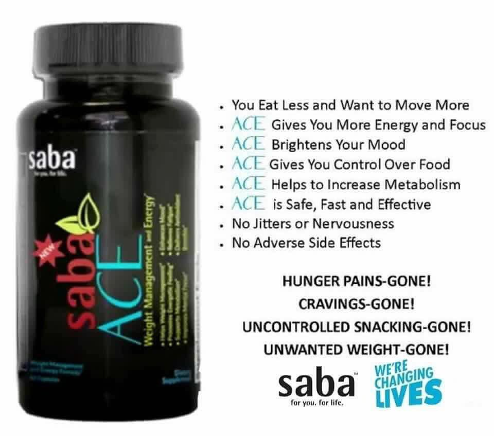 New Saba Ace 60 count Bottle