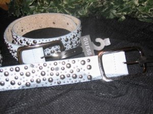 New  Ladies Guess Suede Jeweled Belt