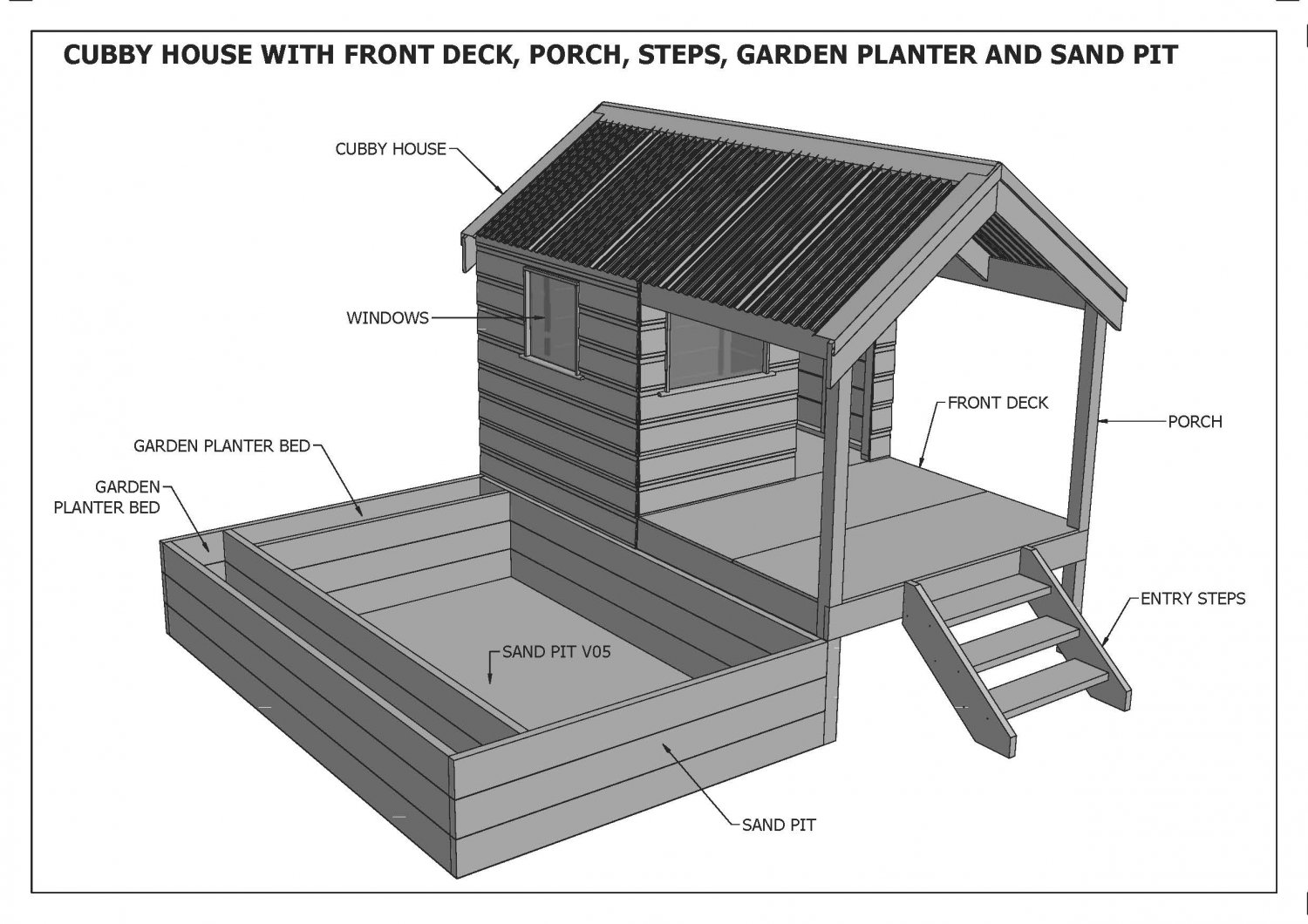 Kids Play House Plans