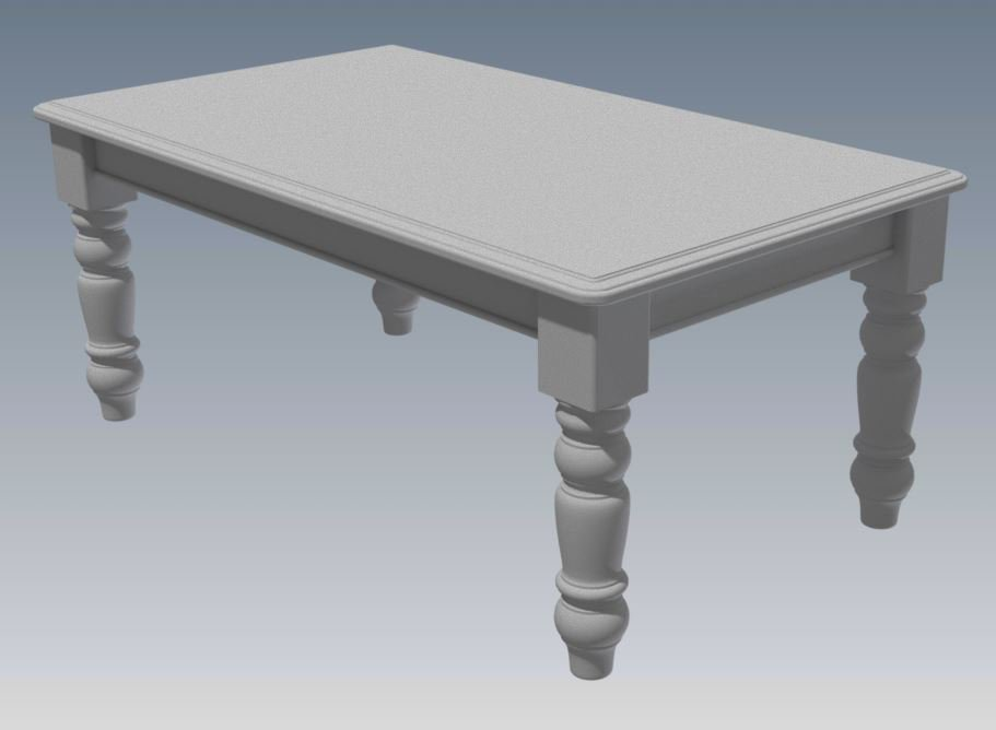 SOLID TIMBER DINING TABLE 1800 X 1050 - Make Your Own & SAVE HEAPS $$$ (Full Plans 2D & 3D)