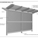 GRAPE VINE WALL - OUTDOOR PRIVACY SCREENING WALL V01 - Building Plans 3D & 2D
