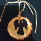 Angel Rustic Wooden Ornament (EC00)