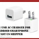 USA wholesale100pc USB Power Adapter Home Wall Charger Plug iPod iPhone 5 3G 3GS