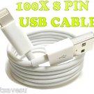 FREE SHIP USA Lot of 100 X iPhone 5 iPod Nano 8 Pin USB Data Charger Sync Cable