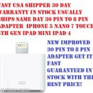 8 pin converter to 30 pin Cable Adapter Cable iPhone 5 Nano 7 Touch 5th Gen  LOT