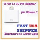 10x pcs8 pin to 30 Pin Converter Data Charger Adapter iphone 5 ipod 7 ipad mini