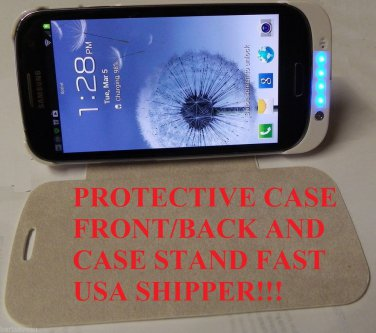 GALAXY S III 3 3200 mAh extended BATTERY CHARGER CASE COVER STAND  US SHIPPER