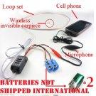 Surveillance SPY TALK Wireless Earphone Cell Phone Hidden Ear Piece Bug Device