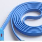 LED BLUE Light Smile Face 30 PIN USB Data Sync Cable iPhone 4 4S GALAXY LOT