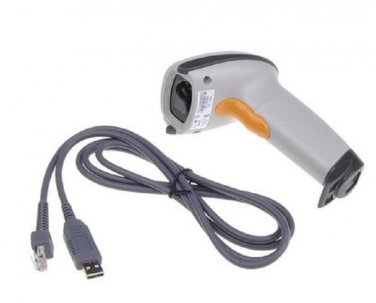 FAST US SHIPPING USB Laser Scan Barcode Scanner Bar Code Reader White Hand Held