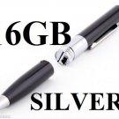US  16 GB Mini HD HIDDEN SILVER Pen Camera Pen Cam Mini DV DVR SPY Pen NANNY USB