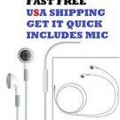 X Earphones w/Mic Control Remote Headphones Headset IPhone 5 5G 4GS 4G 4 4S