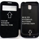 For Samsung GALAXY S4 SIV i9500 3500mah Extra Power Backup Extended Battery Case