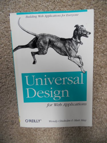 Universal Design for Web Applications - Used Textbook