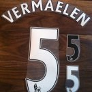 VERMAELEN 5 ARSENAL HOME 2013 2014 NAME NUMBER SET NAMESET PRINT FOOTBALL