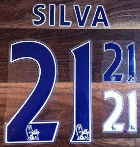 DAVID SILVA 21 MANCHESTER CITY HOME 2013 2014 NAME NUMBER SET NAMESET PRINT