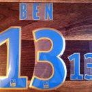 BEN 13 OLYMPIQUE DE MARSEILLE 2013 2014 NAME NUMBER SET NAMESET KIT PRINT