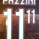 GIAMPAOLO PAZZINI 11 AC MILAN HOME 2013 2014 NAME NUMBER SET NAMESET KIT PRINT