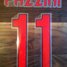 GIAMPAOLO PAZZINI 11 AC MILAN AWAY 2013 2014 NAME NUMBER SET NAMESET KIT PRINT