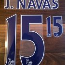 JESUS NAVAS 15 MANCHESTER CITY HOME 2013 2014 NAME NUMBER SET NAMESET PRINT