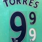 FERNANDO TORRES 9 CHELSEA BLUE AWAY 2013 2014 NAME NUMBER SET NAMESET KIT PRINT