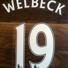 WELBECK 19 MANCHESTER UNITED HOME AWAY 2013 2014 NAME NUMBER SET NAMESET PRINT