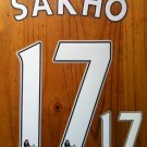 MAMADOU SAKHO 17 LIVERPOOL FC HOME 2013 2014 NAME NUMBER SET NAMESET PRINT