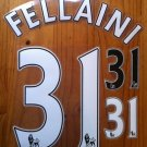 FELLAINI 31 MANCHESTER UNITED HOME AWAY 2013 2014 NAME NUMBER SET NAMESET PRINT
