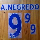 ALVARO NEGREDO 9 MANCHESTER CITY HOME 2013 2014 NAME NUMBER SET NAMESET PRINT