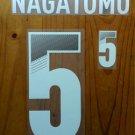 YUTO NAGATOMO 5 JAPAN HOME 2013 2014 NAME NUMBER SET NAMESET PRINT