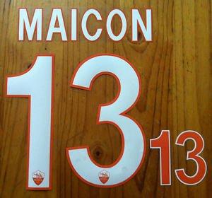 MAICON 13 AS ROMA HOME 2013 2014 NAME NUMBER SET NAMESET KIT PRINT