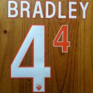MICHAEL BRADLEY 4 AS ROMA HOME 2013 2014 NAME NUMBER SET NAMESET KIT PRINT