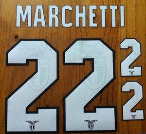 FEDERICO MARCHETTI 22 SS LAZIO HOME 2013 2014 NAME NUMBER SET NAMESET KIT PRINT