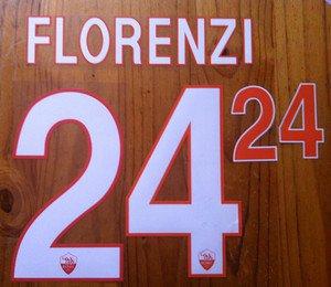 ALESSANDRO FLORENZI 24 AS ROMA HOME 2013 2014 NAME NUMBER SET NAMESET KIT PRINT
