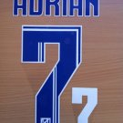 ADRIAN 7 ATLETICO MADRID 2013 2014 HOME NAME NUMBER SET NAMESET KIT PRINT