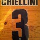 GIORGIO CHIELLINI 3 JUVENTUS AWAY 2013 2014 NAME NUMBER SET NAMESET PRINT