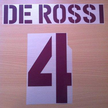 DE ROSSI 4 AS ROMA AWAY 2003 2004 NAME NUMBER SET NAMESET KIT PRINT NUMBERING