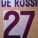 DE ROSSI 27 AS ROMA AWAY 2002 2003 NAME NUMBER SET NAMESET KIT PRINT NUMBERING