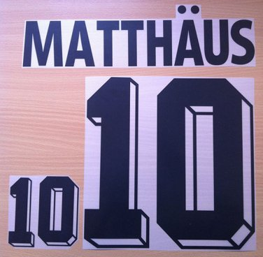 MATTHAUS 10 GERMANY HOME WORLD CUP1994 NAME NUMBER SET NAMESET KIT PRINT