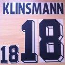 KLINSMANN 18 GERMANY HOME WORLD CUP1994 NAME NUMBER SET NAMESET KIT PRINT