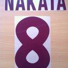 NAKATA 8 AS ROMA AWAY 2000 2002 NAME NUMBER SET NAMESET KIT PRINT NUMBERING