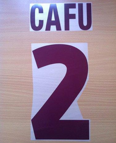 CAFU 2 AS ROMA AWAY 2000 2002 NAME NUMBER SET NAMESET KIT PRINT NUMBERING