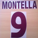 MONTELLA 9 AS ROMA AWAY 2000 2002 NAME NUMBER SET NAMESET KIT PRINT NUMBERING