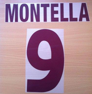MONTELLA 9 AS ROMA AWAY 2000 2002 NAME NUMBER SET NAMESET KIT PRINT NUMBERING