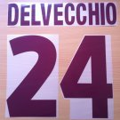 DELVECCHIO 24 AS ROMA AWAY 2000 2002 NAME NUMBER SET NAMESET KIT PRINT NUMBERING