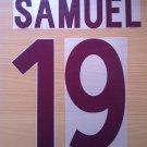SAMUEL 19 AS ROMA AWAY 2002 2003 NAME NUMBER SET NAMESET KIT PRINT NUMBERING